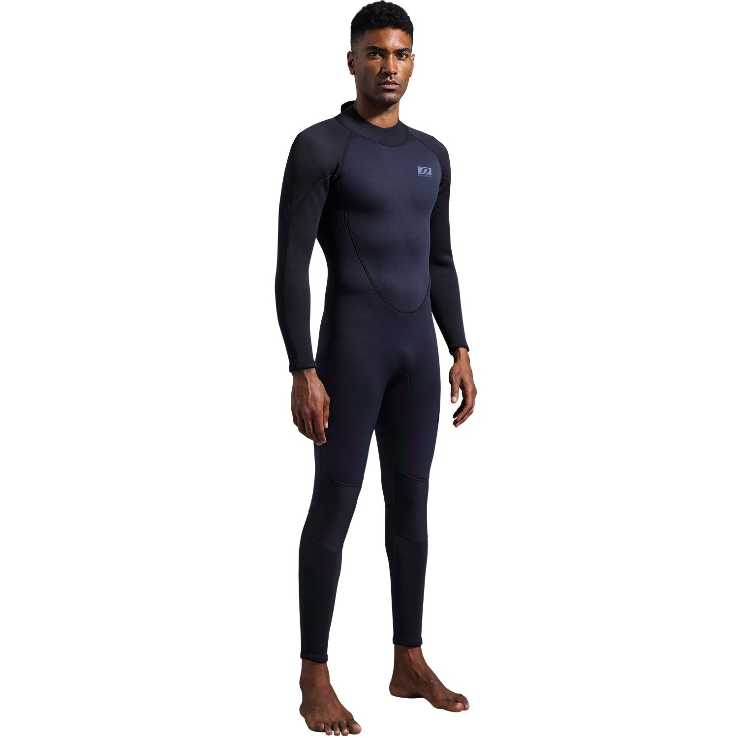 dark lightning Premium CR Neoprene Wetsuit,Mens Full Body Suit for Scuba Diving/Surfing/Snorkeling/Kayaking Thermal Wetsuit in 3/3mm (Men's XXX-Large) by dark lightning