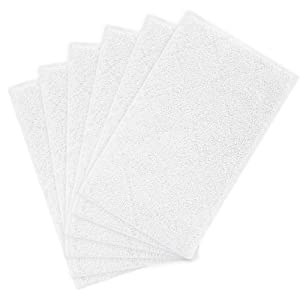 Light 'N' Easy Steam Mop Pads 6 Pack Cleaning Mop Pads Replacement Compatible Light & Easy Steam Mop Pads S3101 S7326 S3601 Floor Steam Cleaner Microfiber Washable Floor Mop Replacement Pads