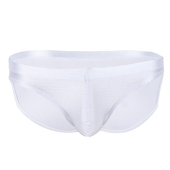 Freebily Tanga Bikini para Hombres Slips de Hilo Transpirables Sueva Ropa Interior con Bulge Bolsa Ligero