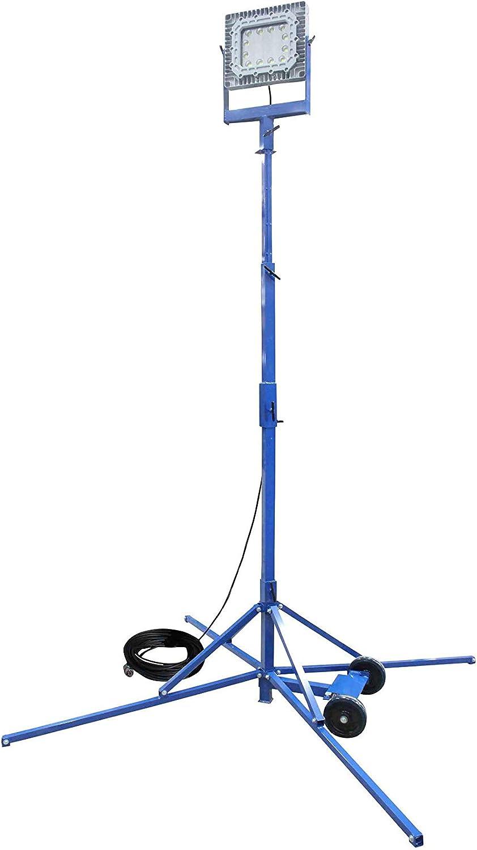 60/°-6-20 250V Larson Electronics 0306PDRXLIM 150W Explosion Proof LED Light Tower C1D1-100 Cord with Exp Plug Quadpod Mount