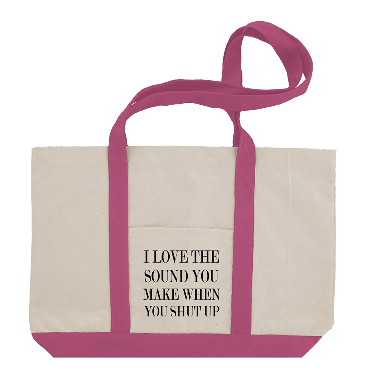 I Love The You Make When You Shut Up Cotton Canvas Boat Tote Bag Tote
