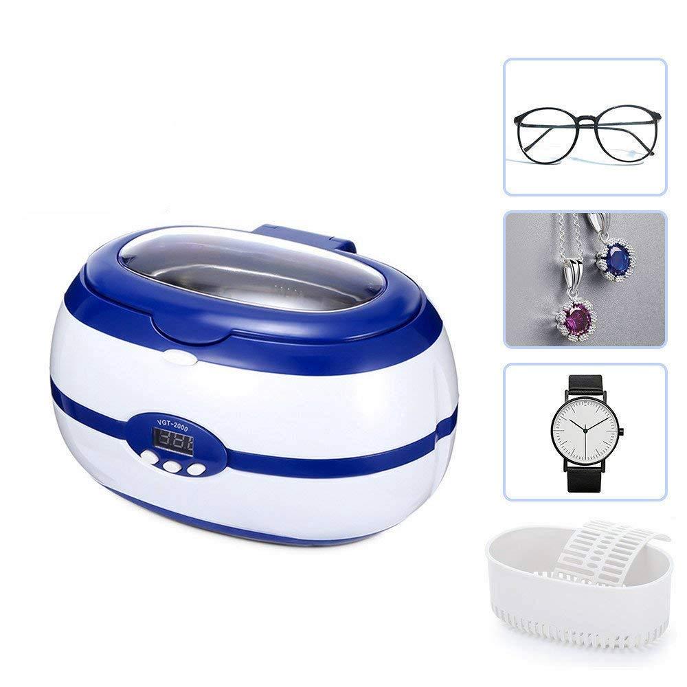 Langstar Ultrasonic Cleaner Digital Jewelry Cleaner Portable Cleaning Machine for Eyeglasses, Rings, Dentures with Degassing Function