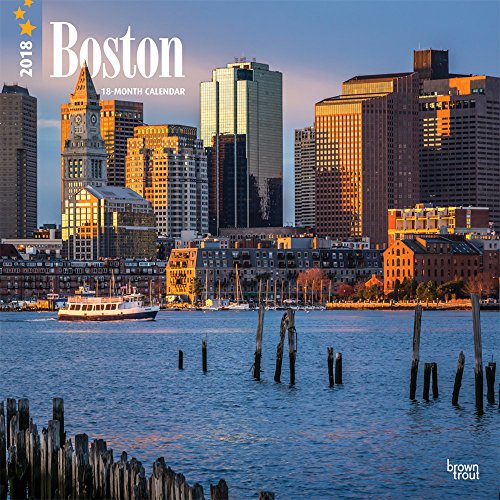 Boston 2018 12 x 12 Inch Monthly Square Wall Calendar, USA United States of America Massachusetts Northeast City (Multilingual Edition) Wall Pocket Japan