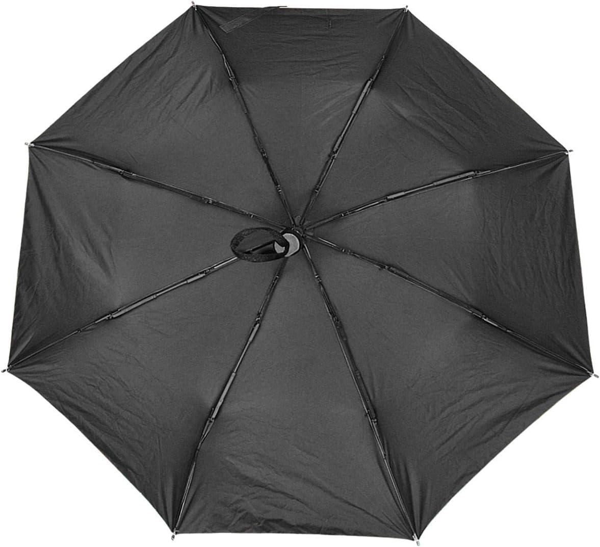 Hand Drawn Tropical Fruits Windproof Travel Umbrella Manual Tri-fold Umbrella