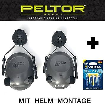 Helmet Mount – Tactical 6S – Original Peltor Estados Unidos electrónicos activo Protección auditiva Auriculares con