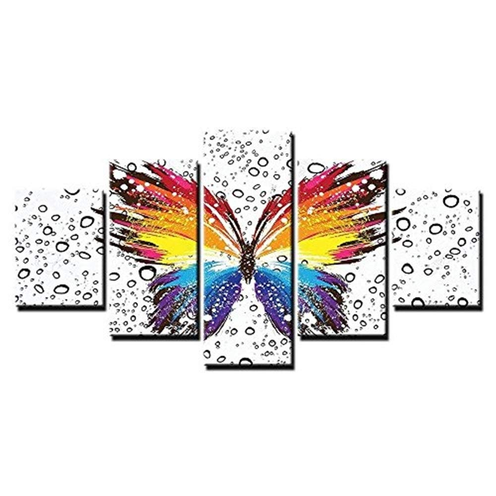 ZEQUAN Arte Mural Pintura Color Mariposa patrón Art Deco ...