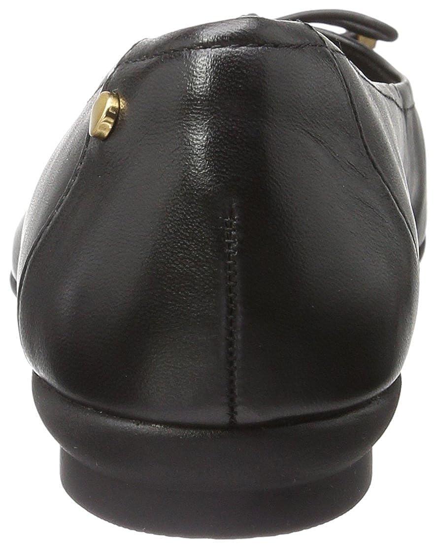 Clarks (schwarz Damen Candra Light Geschlossene Ballerinas Schwarz (schwarz Clarks Leder) d15027