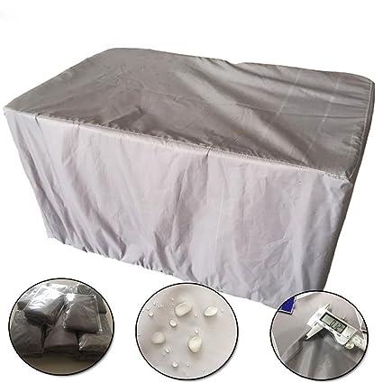 QEES JJJZ13 Funda cuadrada para muebles de jardín, mesa y sillas al ...
