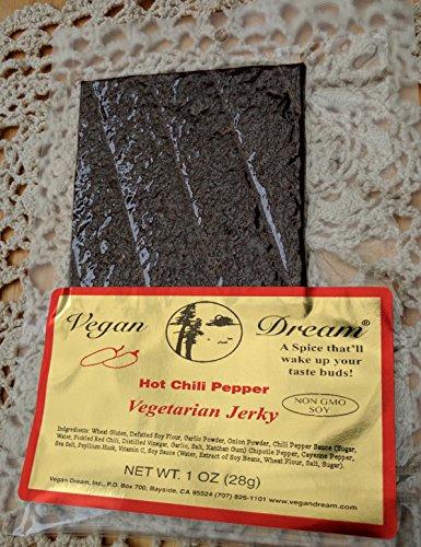 Vegan Dream Jerky - Hot Chili Pepper, 6 Pack