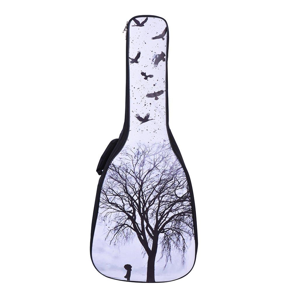 ammoon 41 y 42 Pulgadas Acústica Popular Guitarra Clásica Caso Funda Mochila Superficie de la PU Impermeable Espesar Acolchado Correa Dual para el Hombro Ajustable WAH5521646455716LI