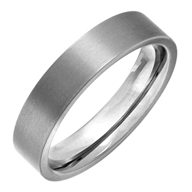 Theia Titanium Flat Court Shape Polished or Matt Ring NrX8uPq