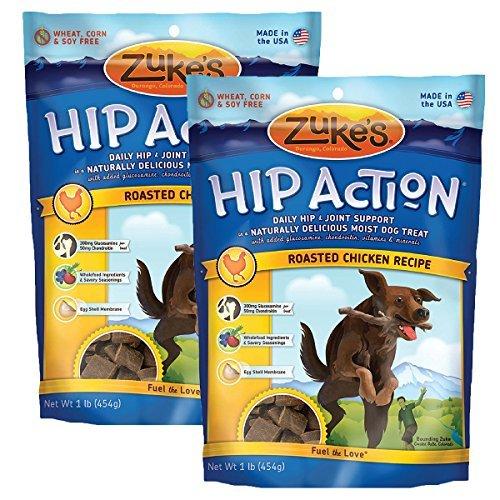 Zuke's Hip Action Dog Treats, Roasted Chicken Recipe, - Dog Hip Treats Action Zukes