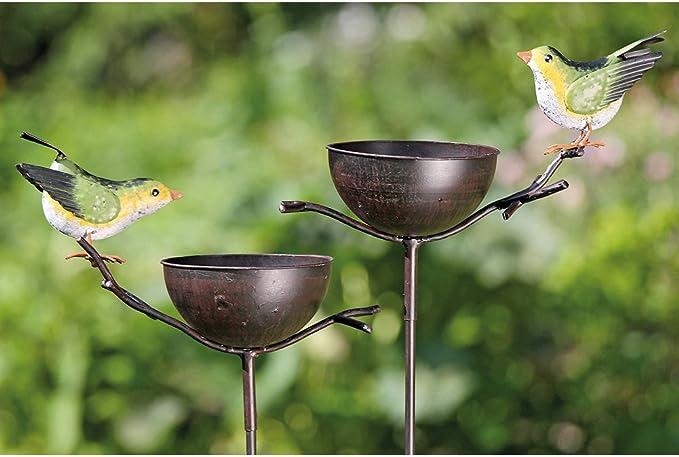 Jardín Varilla metal Bebedero de pájaros 120 cm mod. B: Amazon.es: Hogar