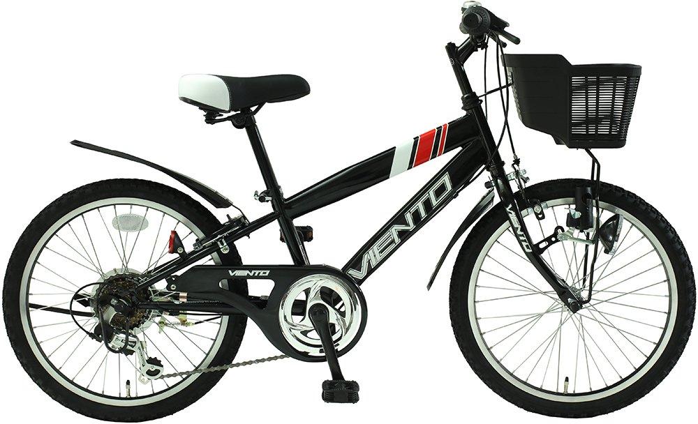子供用自転車 20インチ ジュニアマウンテンバイク CTB シマノ6段変速ギア カゴ 鍵 ライト 泥除け チェーンカバー付き CTB206-BK シティサイクル キッズバイク こども用 男の子 女の子 TOPONE B018TQER9G