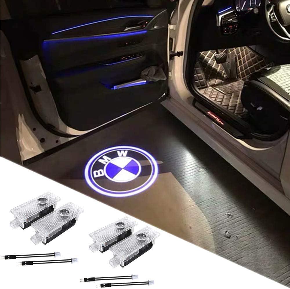 SYAUAWTO 2Pcs LED Car Logo Lights Ghost Light Door Light Projector Welcome Accessories Emblem Lamp for Ford Focus 2 3 MK2 MK3 Mondeo MK4 Ranger Fiesta MK7 Fusion S max Aerostar Aspire Contour Cougar