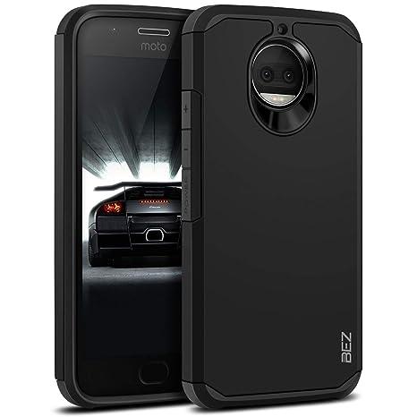 BEZ Funda Moto G5s Plus, Carcasa Compatible para Motorola Moto G5s Plus, Antideslizante Ultra Híbrida Gota Protección, Cover Anti-Arañazos con ...