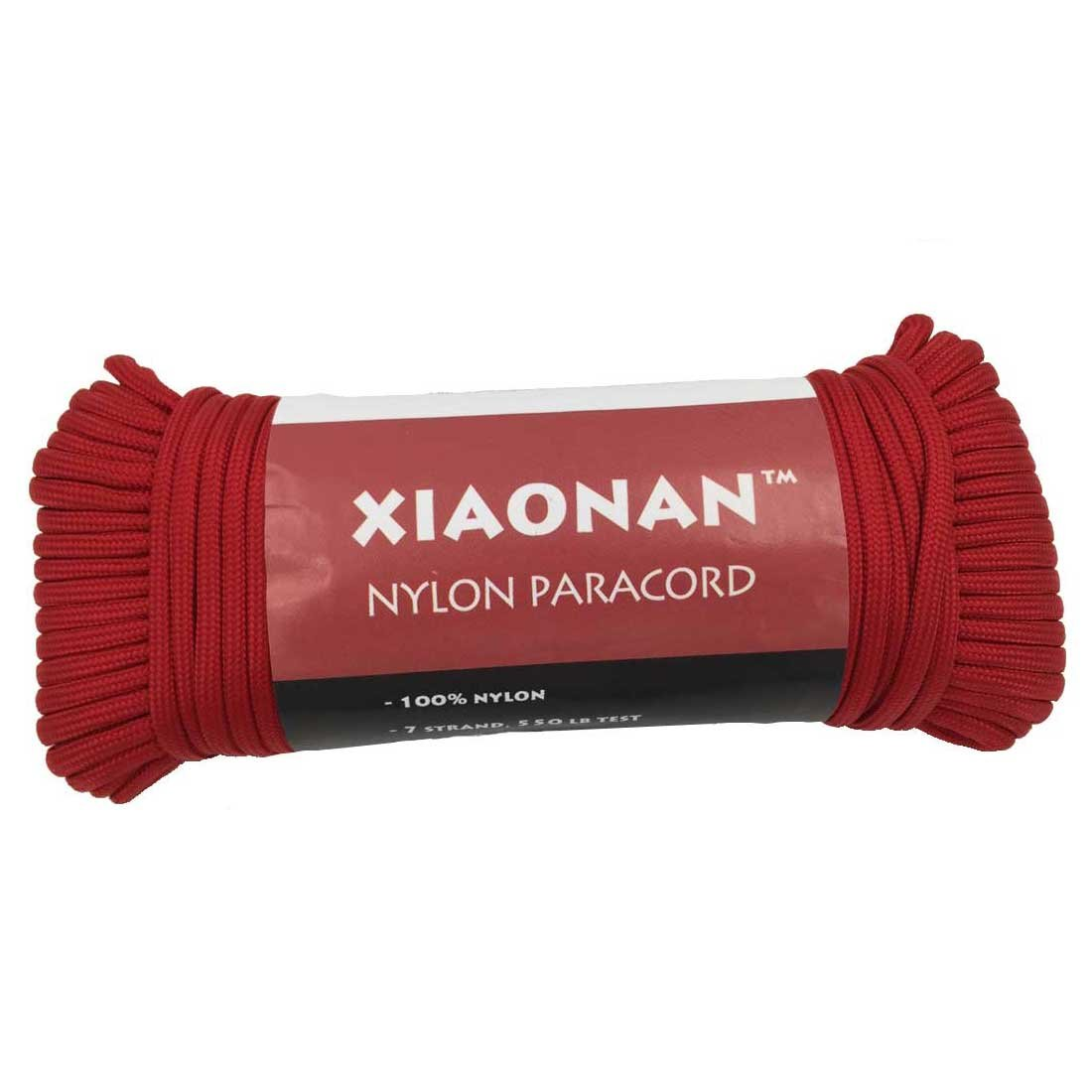 xiaonan 30,5m 31m Mil Spec tipo III 7strand 550100% Nylon Paracord cordino, Retail Packaging, Black Generic