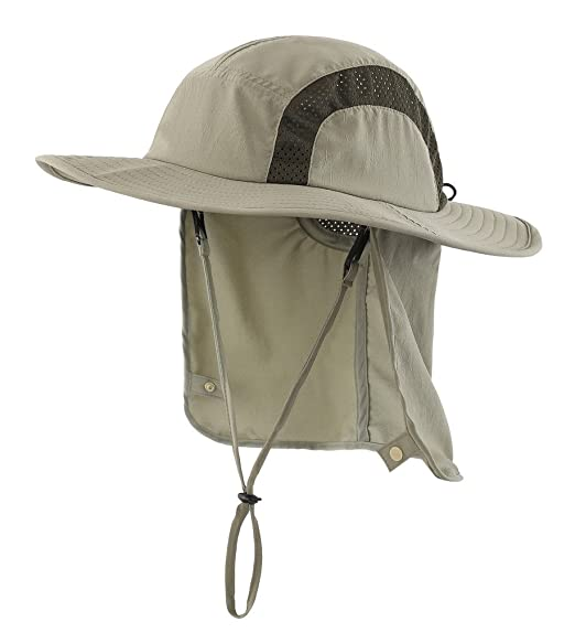 bb487e9c6 Home Prefer Kids Safari Hat UPF 50+ Sun Protective Cap Boys Bucket Hat with  Flap