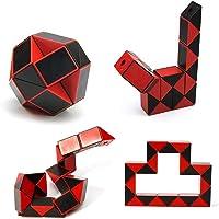 PRIFRA 24 Blocks Magic Snake Cube, Mini Plastic Puzzle Cube, Fidget Toys ,Mini Snake Speed Cubes for Kids Party Bag Filler, Random Colors, Party Supplies