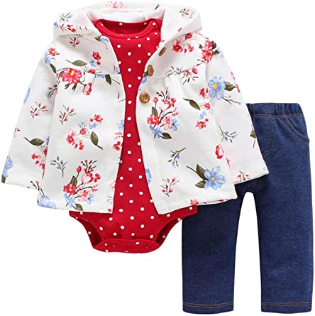 Pants Newborn Girl Boy Autumn Winter Clothes Outfits 0-24 Months Odziezet Baby Clothing Set 3pcs Long Sleeve Hoodie Bodysuit