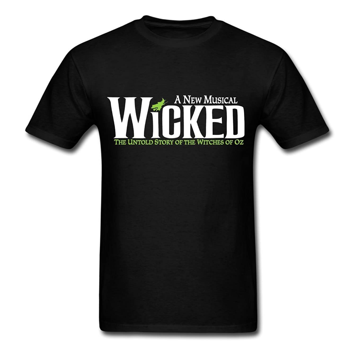 50% Off Deals! Wicked logo 2016 Men's O Neck Tee Black