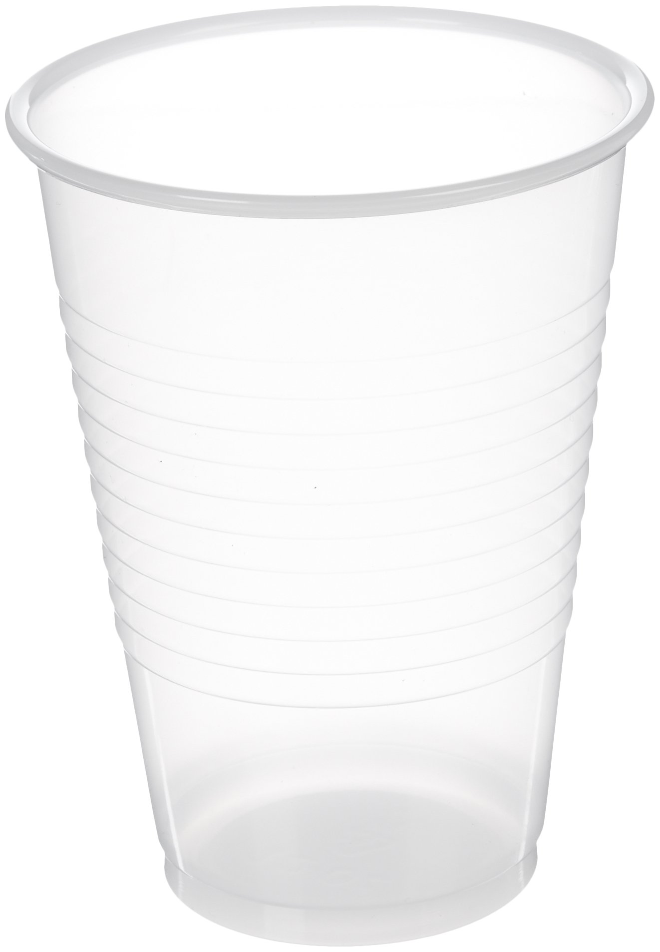 AmazonBasics Plastic Cups, 12 oz, Clear, 500-Count