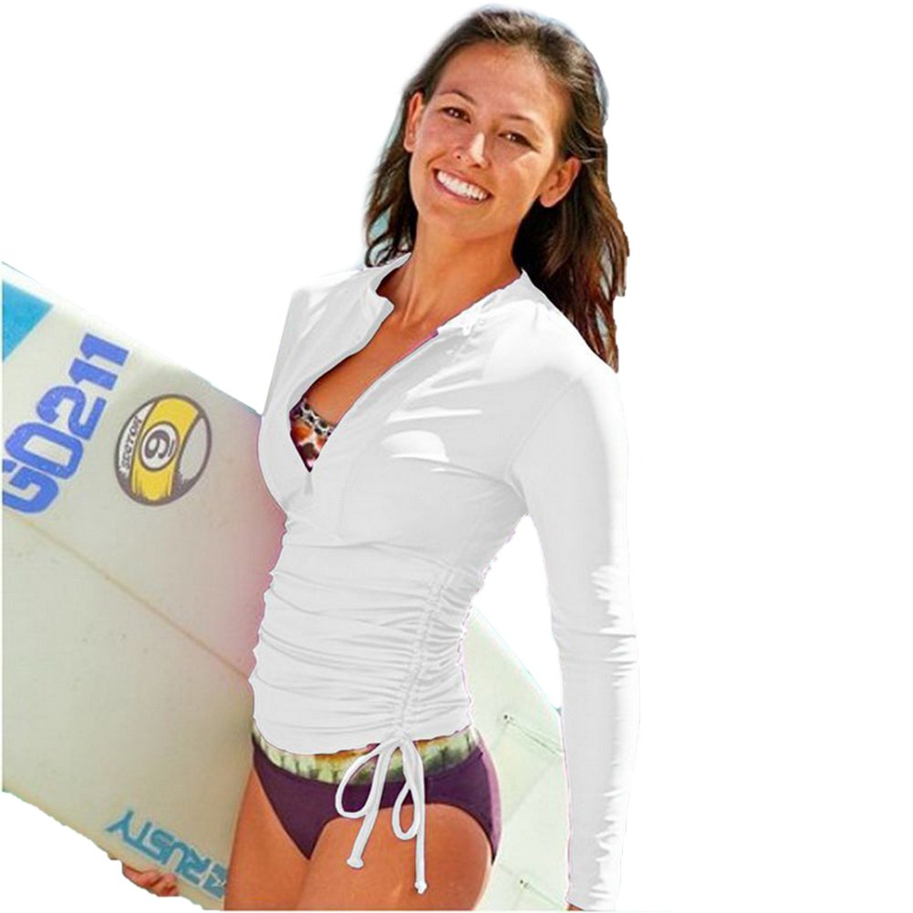 FOREVER YUNG Wetsuit Sun Protection Rash Guard Shirt Long Sleeve Shirt
