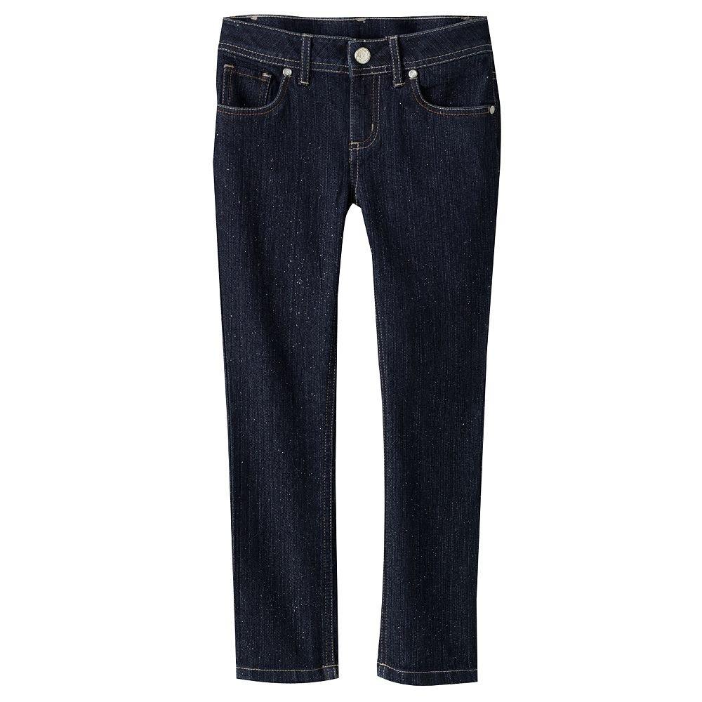 4 Regular L.e.i Girls Kate Glitter Adjustable Skinny Jeans