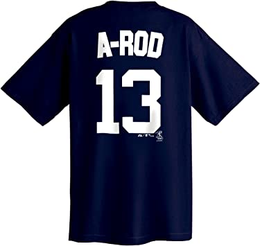 Majestic Alex Rodriguez New York Yankees A-Rod Youth Niño Navy MLB Player T-shirt camisa: Amazon.es: Deportes y aire libre