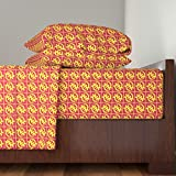 Roostery Ghana 4pc Sheet Set Gye Nyame Iv by Justjoycelyn Queen Sheet Set made with