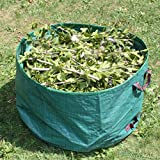 Lawn and Leaf Bags,63 Gallons Reusable Garden Bags,Heavy Duty Collapsible Yard Lawn Gardening Waste Bags and Debris Container
