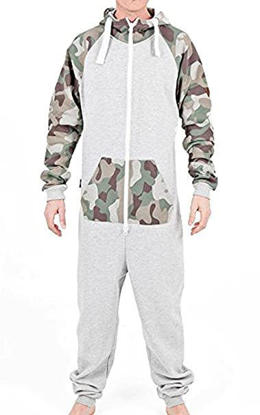 Mens Printed Onesie Hoodie Jumpsuit Playsuit All In One Piece L 4f921e6f5