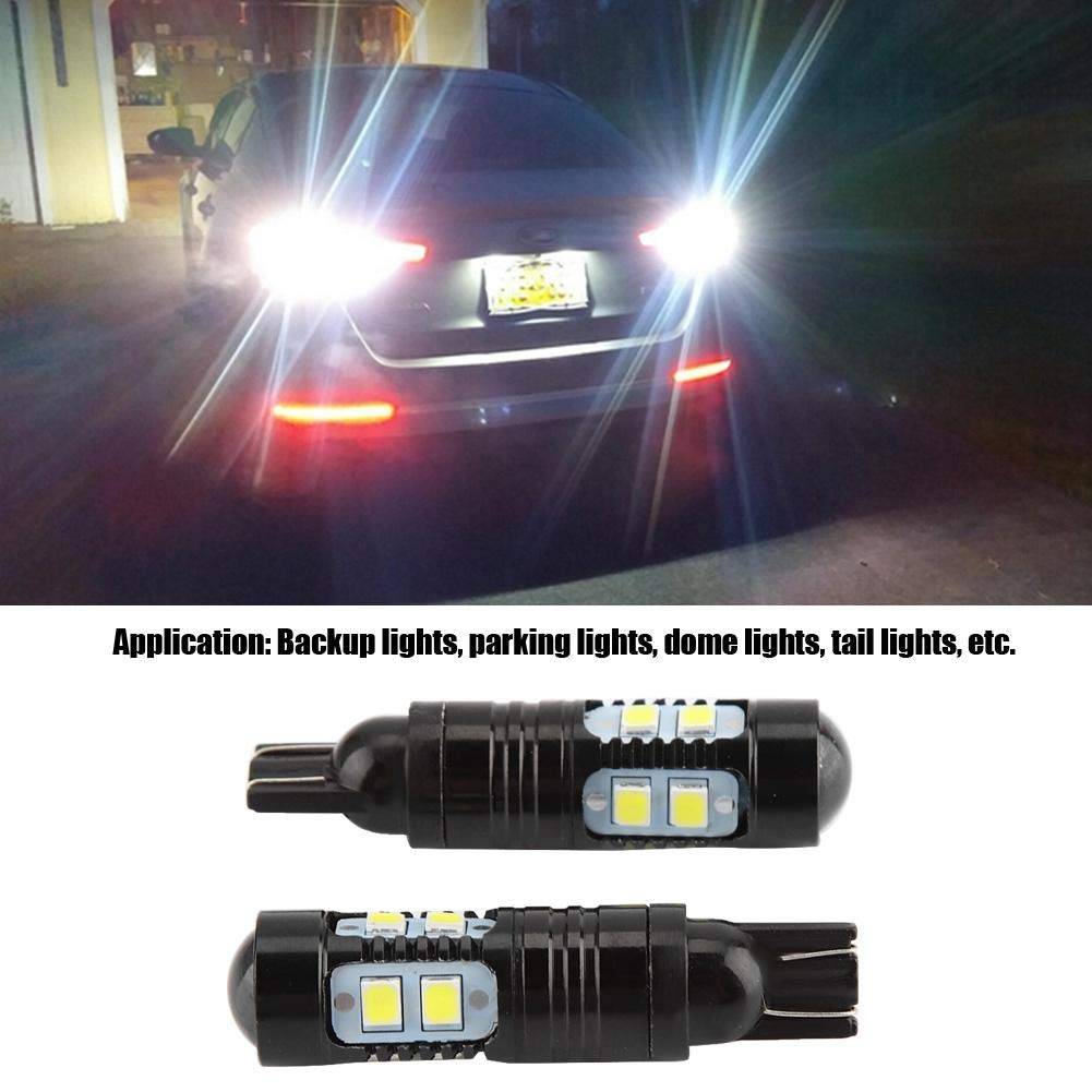 Cuque 2pcs 50W 921 912 T10 T15 High Power LED Car Backup Reverse Fog Lights Bulbs 6000K Xenon White