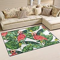 Vantaso Nursery Area Rugs Soft Foam Flamingo Palm Play Mats for Kids Playing Room Living Room Door Mat 31x20 inch
