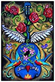 Song Bird by Melody Smith Tattooed Swallows Mexican Guitar Tattoo Fine Art Print
