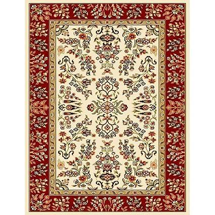 Amazon Com Lyndhurst Lnh331a Ivory Red Oriental Rug Size 3 3 X