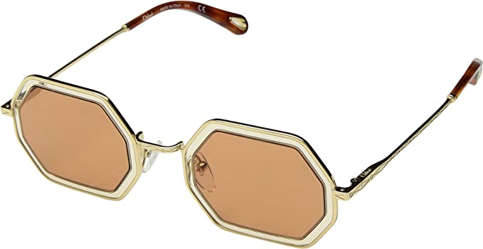 2e710e9c5 Chloe CE146S 831 Gold Sand Tally Rectangle Sunglasses Lens Category ...