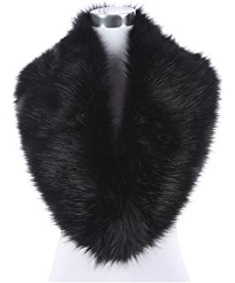 311d0a93ed6 Lucky Leaf Women Winter Faux Fur Scarf Wrap Collar Shrug for Wedding Evening  Party