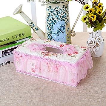 XY&GK Cajas de toallas de papel, bolsas de tela bordado tridimensional Caricatura mano acerca de