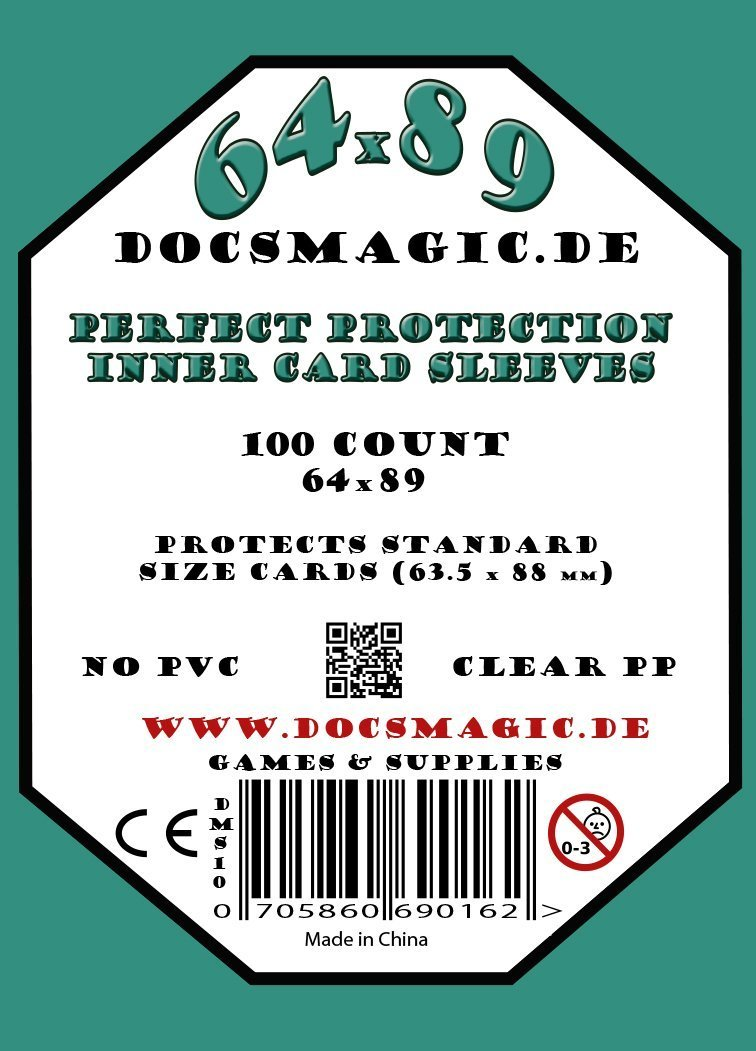 docsmagic.de 1.000 Protection Inner Card Sleeves Clear - 63 ...