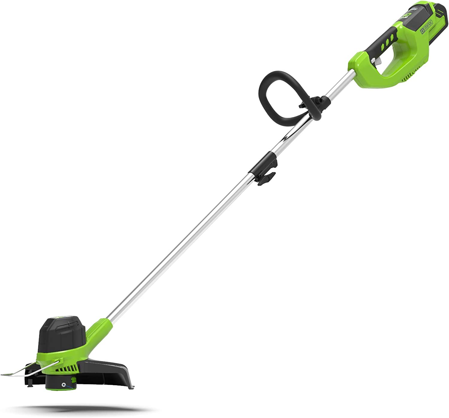 Greenworks Tools Cordless Grass Trimmer G40LT (Li-Ion 40 V 30 cm Cutting Width 7000 RPM Adjustable Handle Aluminium Guide Rail Flowerguard Without Battery and Charger)