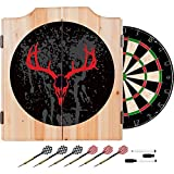Hunter Design Deluxe Wood Cabinet Complete Dart Set