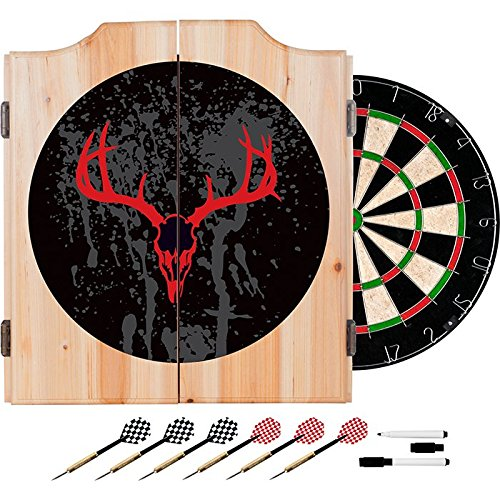 Hunter Design Deluxe Wood Cabinet Complete Dart Set by TMG