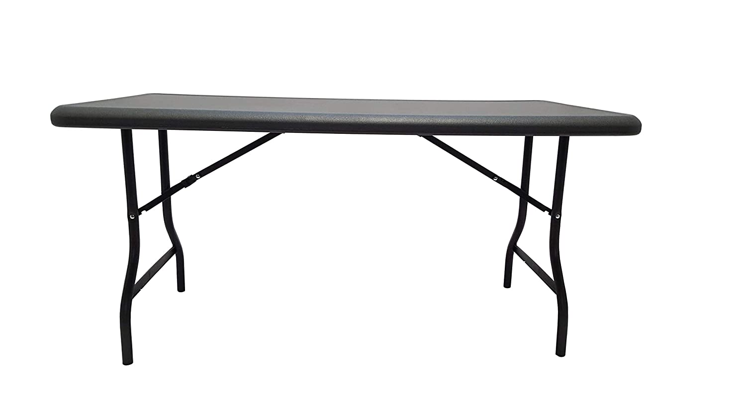 Iceberg Ice65217 Indestructable Too 1200 Series Steel Legs Plastic Folding Table 2000 Lbs Capacity 60 Length X 30 Width X 29 Height Charcoal Industrial Scientific