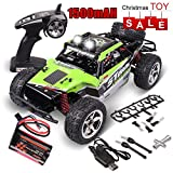 Remote Control Car, 1:12 Scale 4WD High Speed 30+ MPH DIY Terrain RC Cars with 1500mAh Rechargeable Batteries Group, Electric Remote Control Off Road Truck, 2.4Ghz Radio Controller RC Buggy (Green)