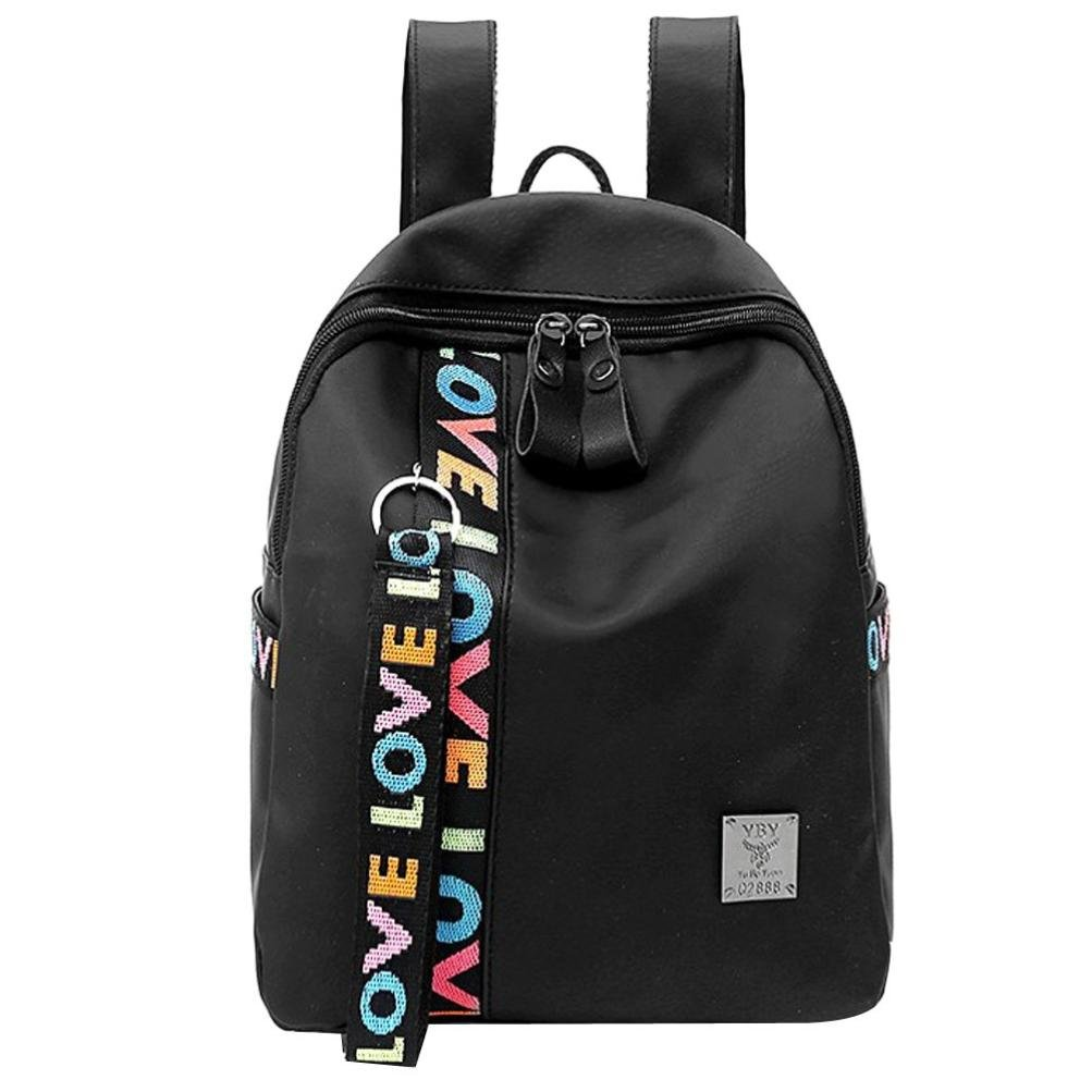 Aobiny Backpack Leisure Zipper Students Fold Travel Backpack (Black)