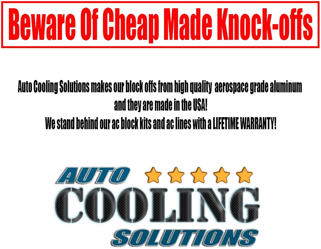 Auxiliary Rear AC Elimination Kit Fix Rear Air Conditioning Line Leaks BK71075 Rear A//C Block Off Kit