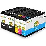 Gohepi 950XL/951XL Kompatibel für Druckerpatronen HP 950XL 951XL Officejet Pro 8620 8610 8600 Plus 276dw 8100 8615 251dw 8625 8660 8640 8630 Patronen - 2 Schwarz/Blau/Rot/Gelb 5er-Pack