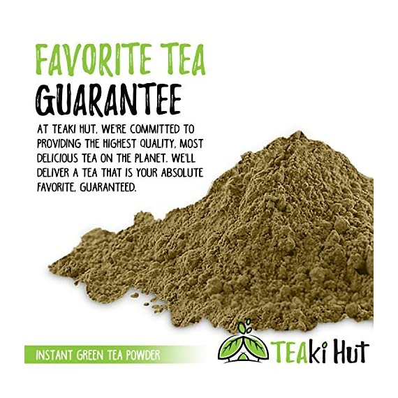 Instant Green Tea Powder - 100% Pure Tea - No Fillers, Additives or Artificial Ingredients of Any Kind 4 ✔ THE BEST GREEN TEA POWDER TO LOSE WEIGHT: Scientific studies have discovered that the main ingredients responsible for green tea slimming effects are caffeine and EGCG (epigallocatechin gallate). ✔ ONE SINGLE INGREDIENT: 100% pure green tea made from ground tea leaves. No flavors, preservatives, colors or fillers of any kind added. Not the diluted, off-tasting chemical filled product you're used to buying in the supermarket. This is as pure as it gets! ✔ HEALTHY ALTERNATIVE TO COFFEE: Minimally processed, and free of additives, Tea Factory Instant Green Tea offers a delicious, easy to consume instant tea that contains over one hundred times more antioxidants as compared to brewed tea.