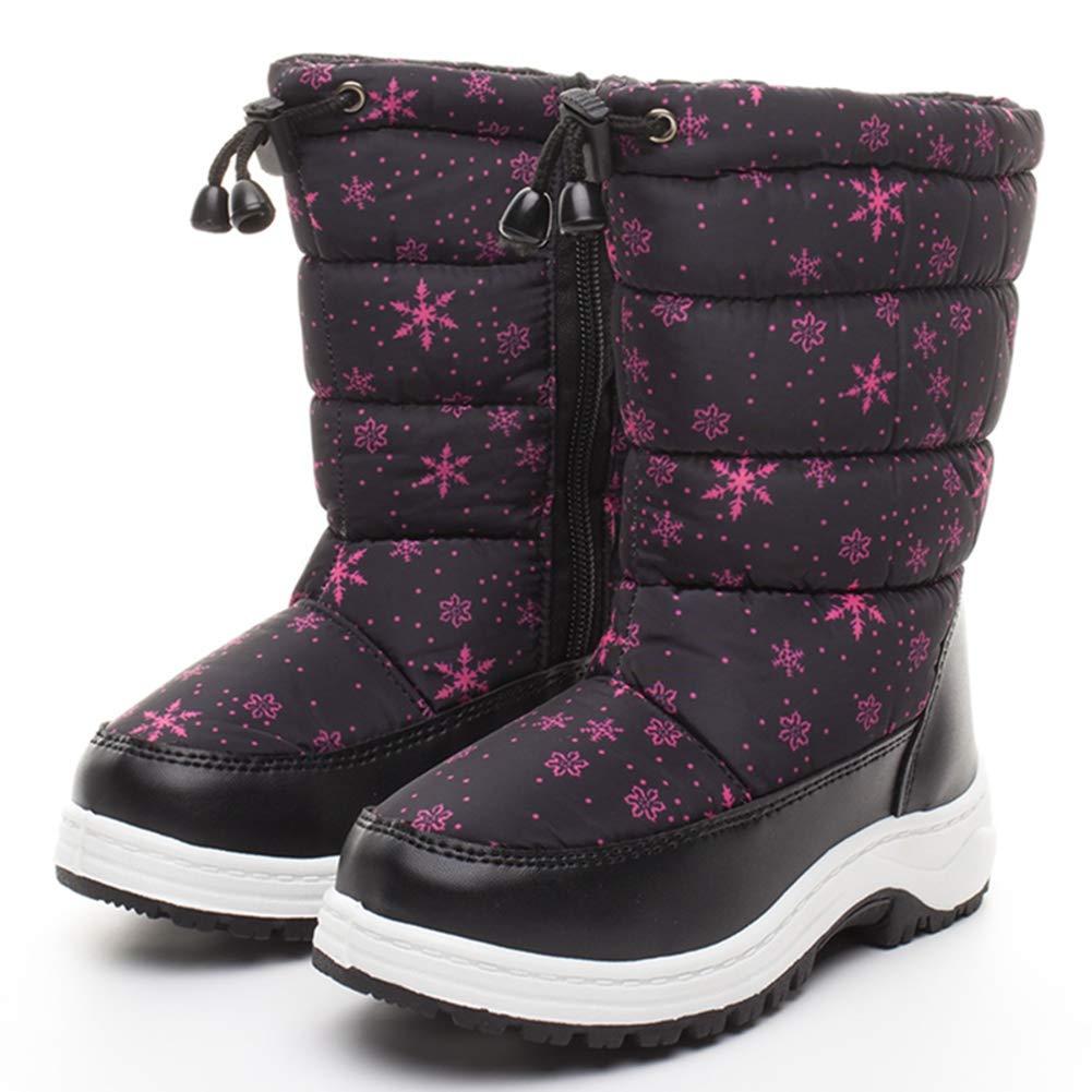 LGXH Boys Girls Snow Boots Anti-Slip Outdoor Waterproof Comfort Toddler Kids Winter Shoes with Zipper